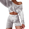 Summer Tie Dye Two Piece Biker Short Set Women