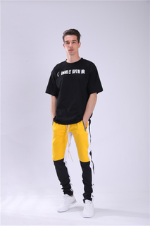 Wholesale Retro Polyester Side Stripe Mens Track Pants